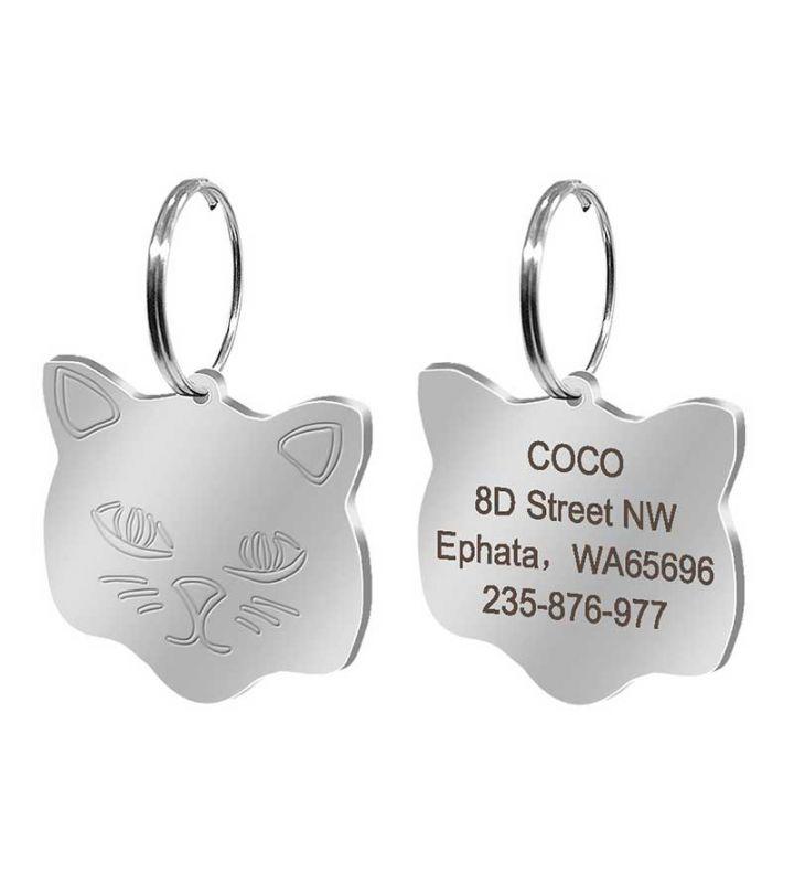 médaille pour chat argent