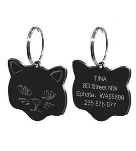 médaille pour chat noir