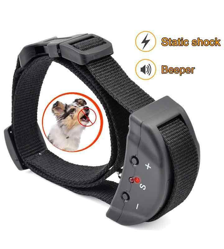 Anti-Bark collar with battery, beep and static shock.