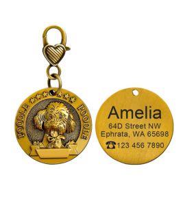 Médaille Poodle caniche