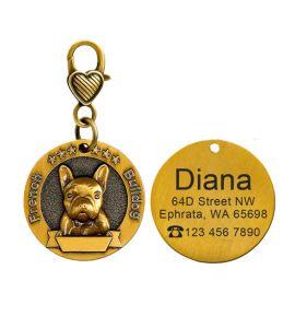 Médaille French Bulldog, bouledog francais