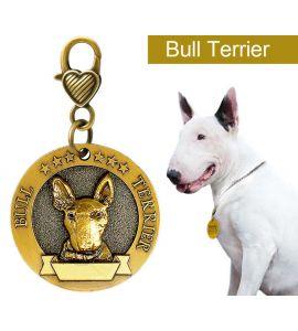 Médaille gravé bull terrier