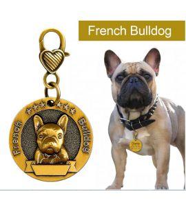 Medaille personnalisée Bulldog francais