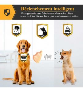 Le collier PET856  de petainer se déclenche uniquement avec les aboiement du chien.