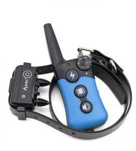 Pet619-1 Collier de dressage compact et ergonomique Bleu