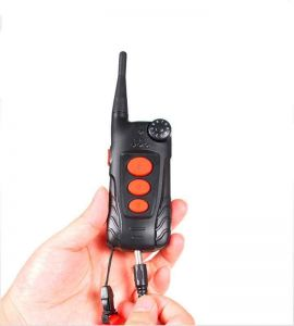 Remote control of the Aetertek AT918C training collar in charge.