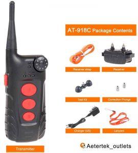 Contents of Aetertek AT918C training kit + anti bark