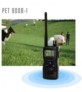 The PET900B dog training collar can train up to 3 dogs.