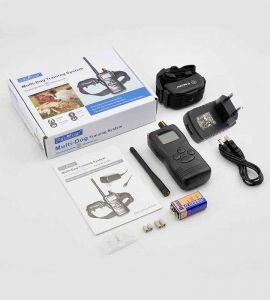 Le collier dressage chien PET900B avec ses 3 modes de fonctionnement et 100 niveaux convient pour une utilisation jusqu'à 1000m.