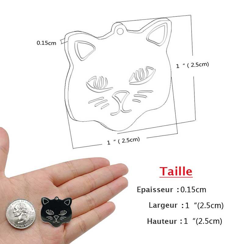 Taille du médaillon chat