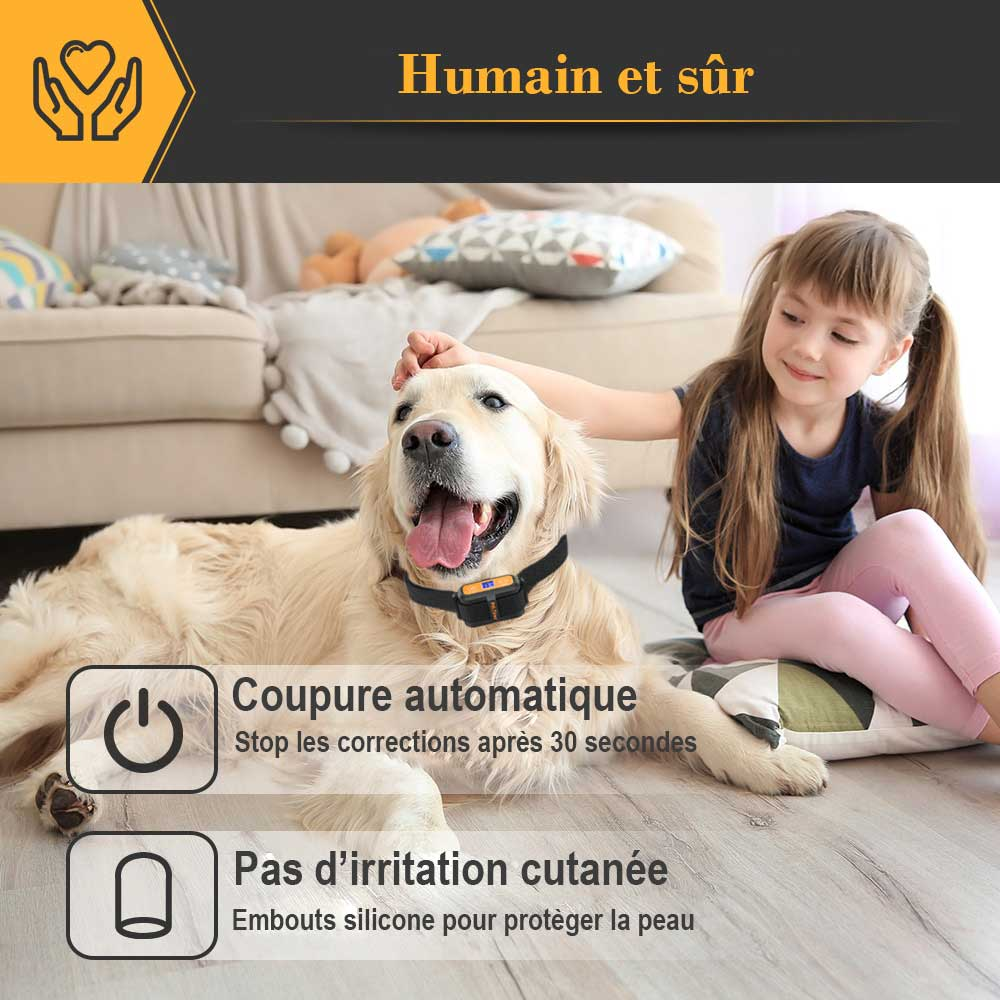 Collier anti aboiement à déclenchement intelligent PET 856