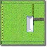 zone laterali di barriera di recinzione cane elettrico